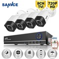 SANNCE 8CH 1080P HDMI Output DVR CCTV Security Camera system 4 PCS TVI 720P 1200TVL IR Outdoor Video Surveillance Camera kit