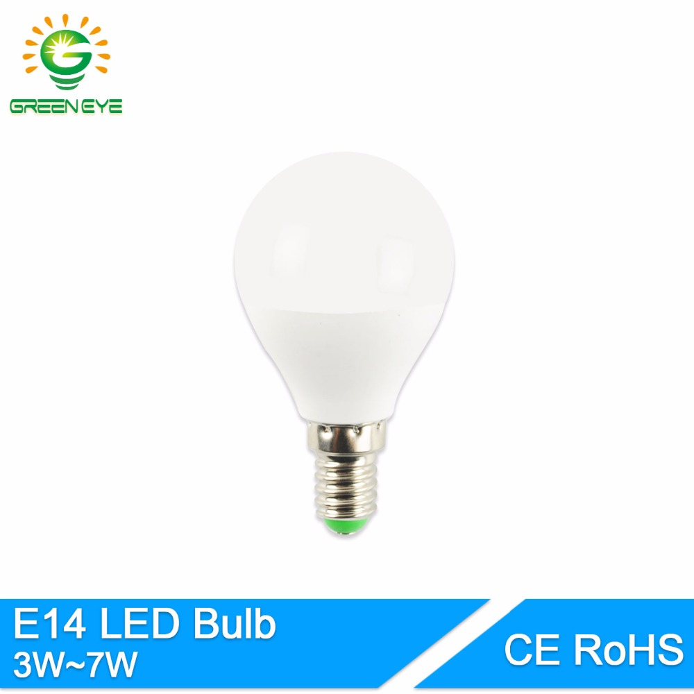 greeneye e14 led bulb lamps 2835smd e14 3w 5w 7w screw round bulb household high brightness led. Black Bedroom Furniture Sets. Home Design Ideas