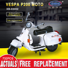 XINGBAO 03002 732pcs The Vespa P200 Moto Set Building Blocks Bricks Assembled DIY Birthday Educational Toys Funny Gifts