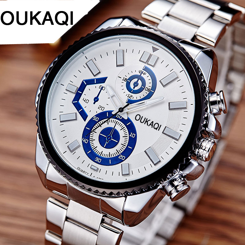 все цены на Top Brand Luxury Men's Watches Men Casual Military Business Steel Clock Male Waterproof Clocks Sport Quartz Wrist Watch