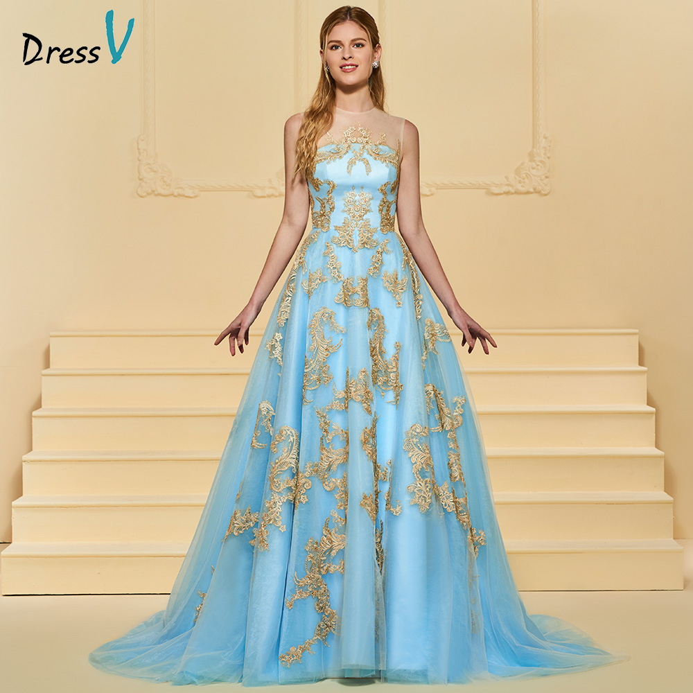 Hielo Azul Color de manga larga de encaje musulmanes vestidos de ...