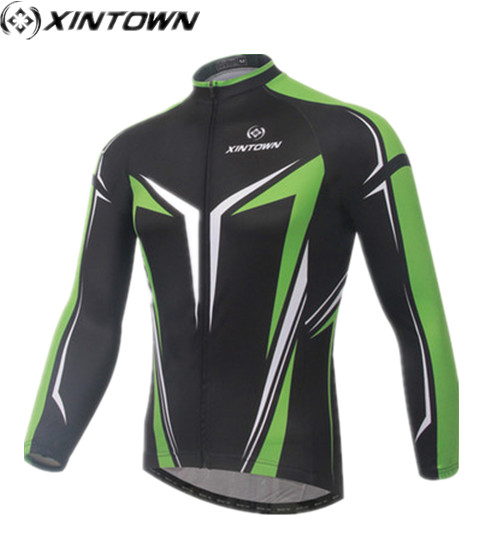 XINTOWN Cycling clothing Men Bike Long jersey black Pro Team Riding Top Male MTB Ropa Ciclismo Wear Maillot Long Sleeve jersey