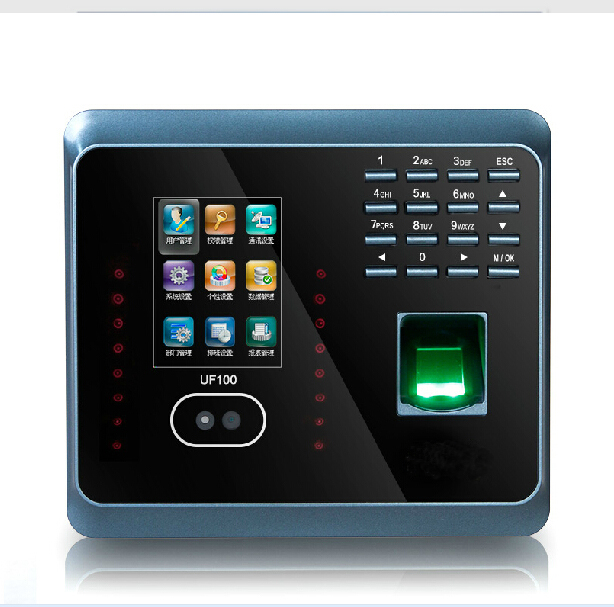 WiFI Fingerprint Time Attendance  ZK UF100Plus WiFi TCP/IP Face Time Attendance System With Free Software good quality zk biometric face and fingerprint time attendance tcp ip wifi face time clock with keypad employee time attendance