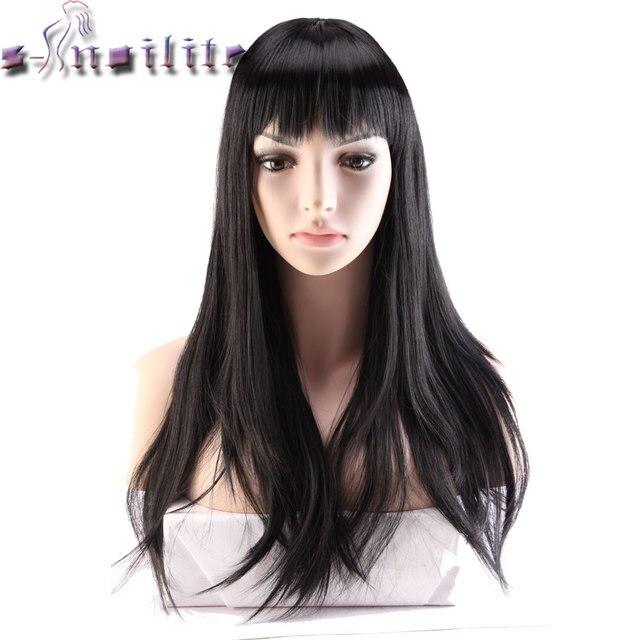 S Noilite 24 Lange Schwarze Haare Perücken Für Frauen Synthetische