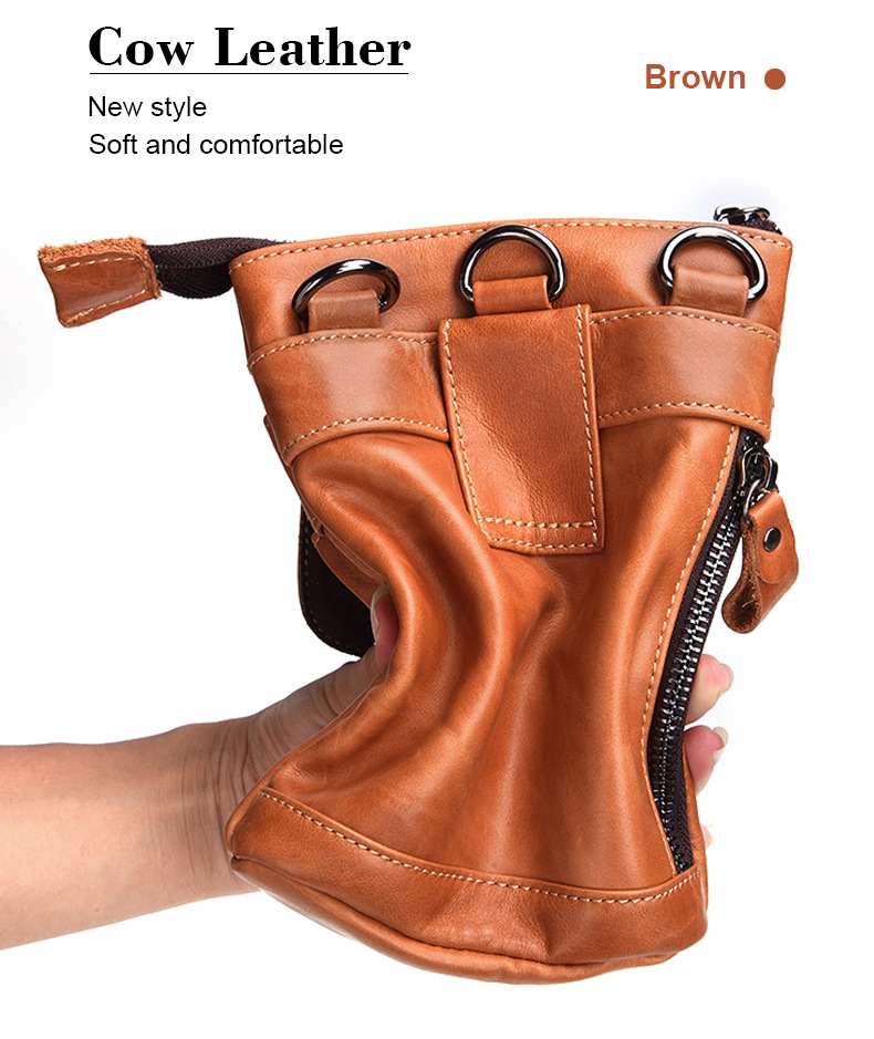 FSSOBOTLUN, Per Blackview X/BV7000 Pro/A20/BV5800/S6 Caso Cintura In Vita degli uomini Portafoglio borsa del Cuoio Genuino Della Copertura Con Tracolla - 5