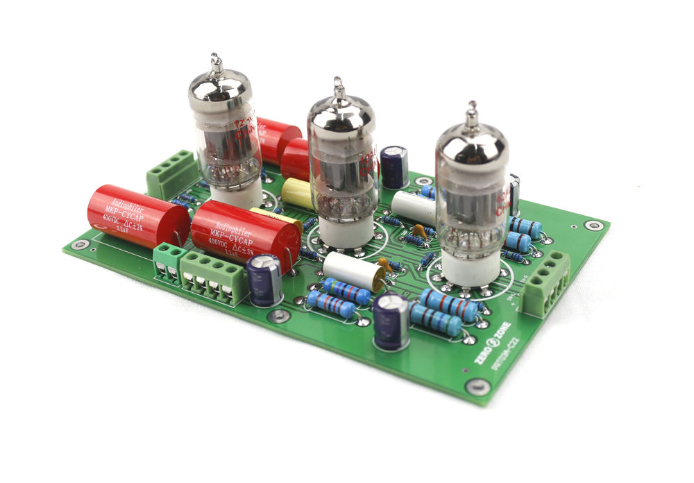 GZLOZONE Asembeld PRT-03A Hifi Stereo 12AX7 Tube Preamplifier Board Base On C22 Preamp dsep29 03a