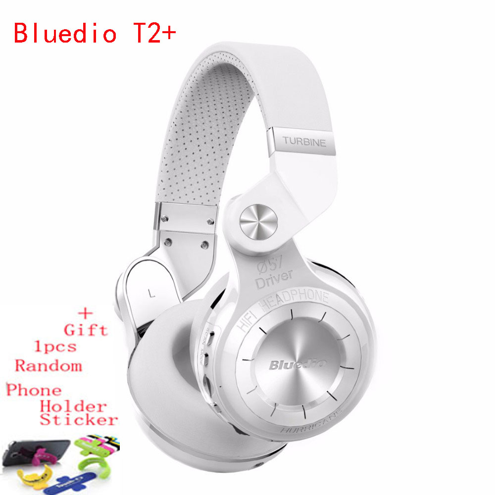ФОТО Bluedio T2+ Foldable Wireless Bluetooth Headphones Sport Running Headset Cuffie Music Fone De Ouvido Support FM Radio& SD Card