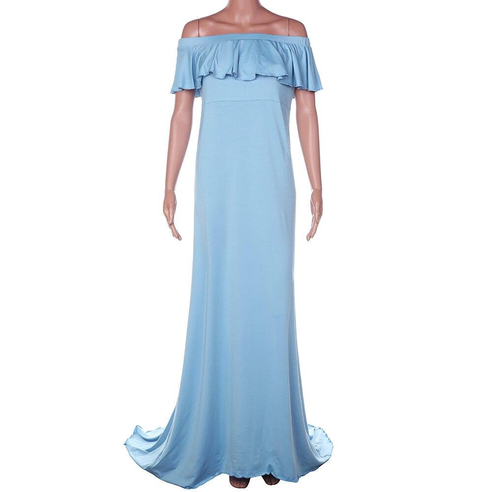 Горячая Распродажа платье для беременных женщин платье для беременных реквизит для фотосессии сексуальное Макси платье для беременных и матерей после родов одежда - Цвет: Синий