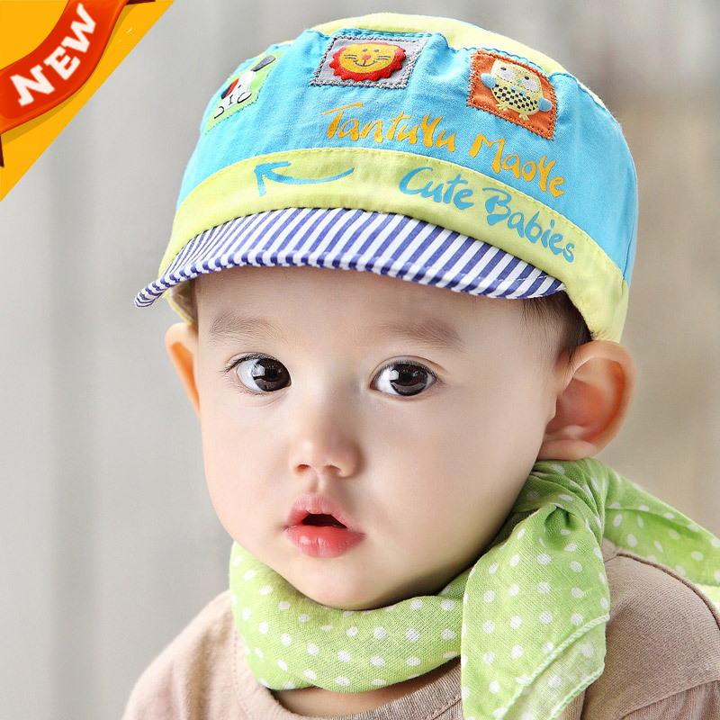 Cotton Baby Hats Girls Spring Newborn Summer Hats Children s Cap Baby Flat  Hat For Girls Beautiful Korean Boy Sport Caps C803-in Hats   Caps from  Mother ... 49a128ae796
