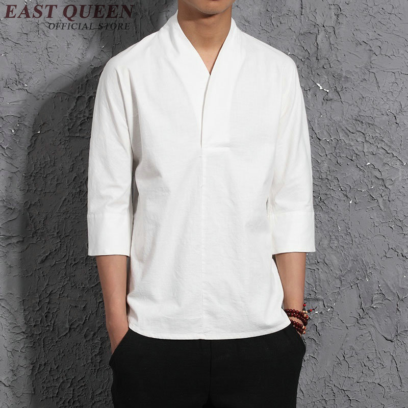 Long Sleeve Traditional Chinese Clothes Tang Suit Top Men Kung Fu Uniform Outfit Clothing for Men