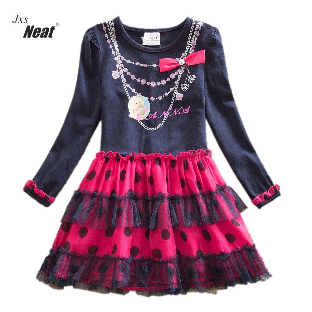 Retail 2017 new girls dress vestidos infantil children clothing kids clothes girls long sleeve floral girl dress LH5478