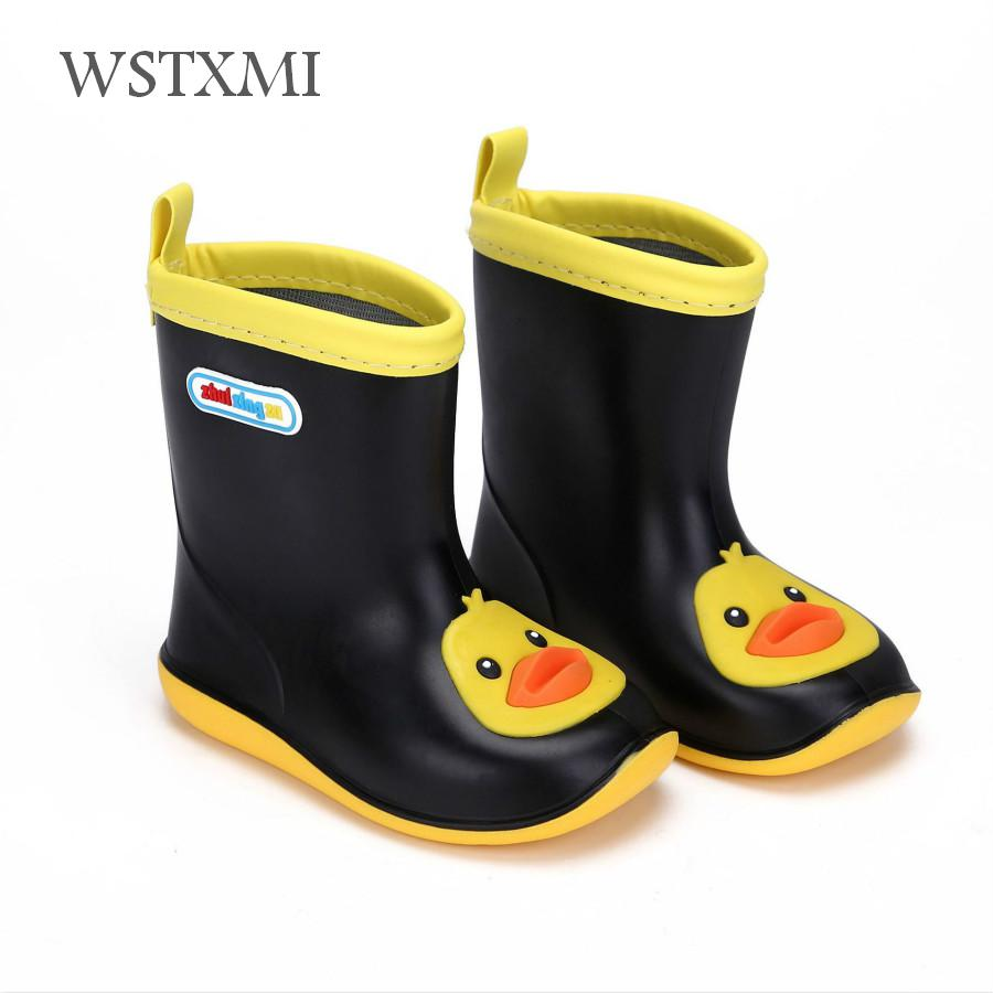 Rain Boots Kids Infant Girls Rubber Boots Baby Boys Waterproof Water Shoes Non-slip Warm Toddler Children Rainboots Removable