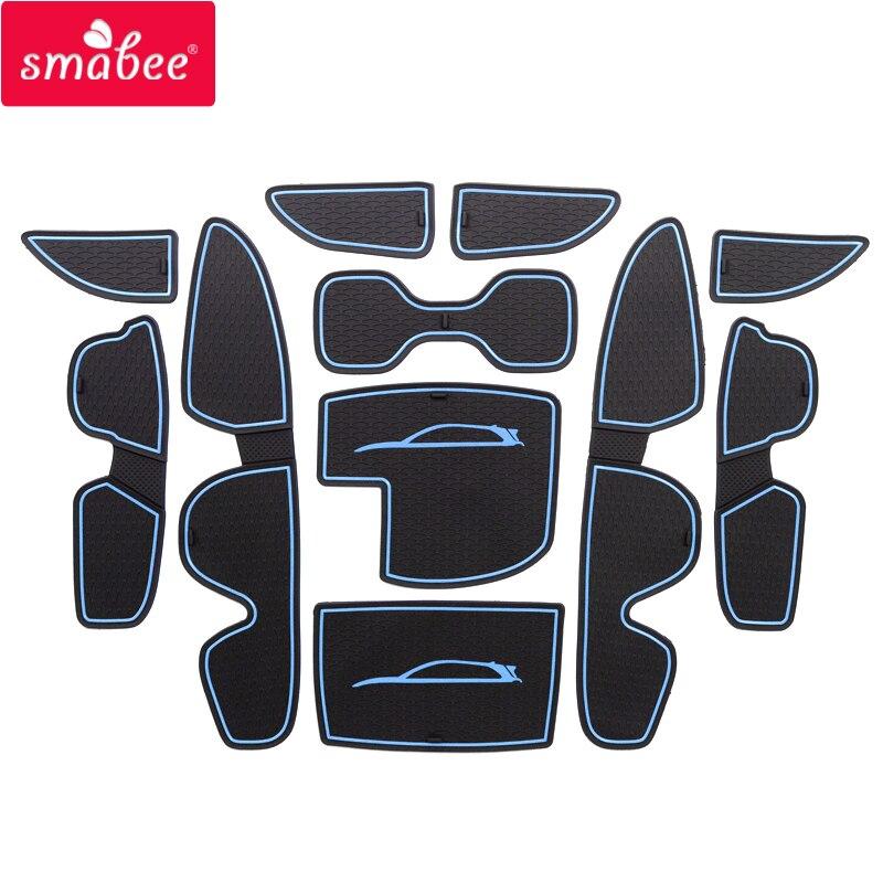 Smabee Pour Hyundai I30 I30 N 2017-2018 Porte fente pad pour Intérieur Accessoires Tapis Tasse Porte groove mat