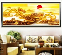 5D DIY Diamond Painting The Great Wall Of China Dragon Playing Pearl Diamond Cross Stitch Sitting