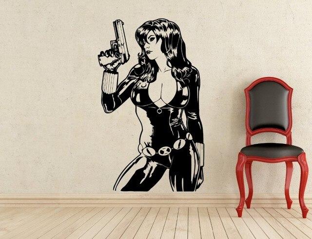 New Arrival Black Widow Wall Decal Superhero Vinyl Sticker Home - Superhero vinyl wall decals