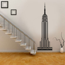 Modern Home Decor New York City Empire State Building Wall Decal Vinyl Living Room Decoration Stickers Removable Wallpaper CT11