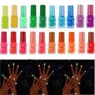 20 colors series of Fluorescent Neon Luminous Gel Nail Polish for Glow in Dark Nail Varnish Nail Art Decoration