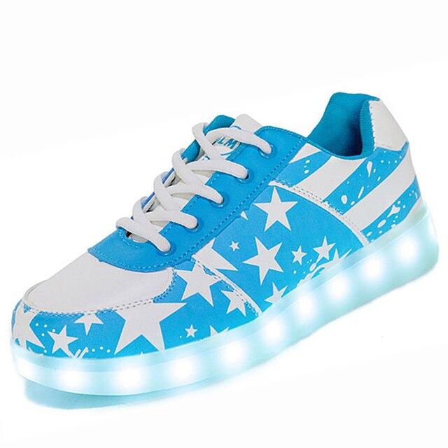 58912a68807dc USB  Rougeoyant Lumineux Sneakers Enfants Chaussures Avec La Lumière Up  Sneakers Pour Enfants Garçons