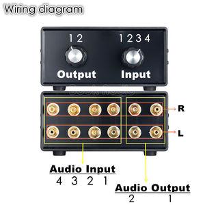 Image 5 - Nobsound mini hifi 스테레오 4 in 2 out rca 오디오 신호 분배기/스위처 선택기 패시브 프리 앰프