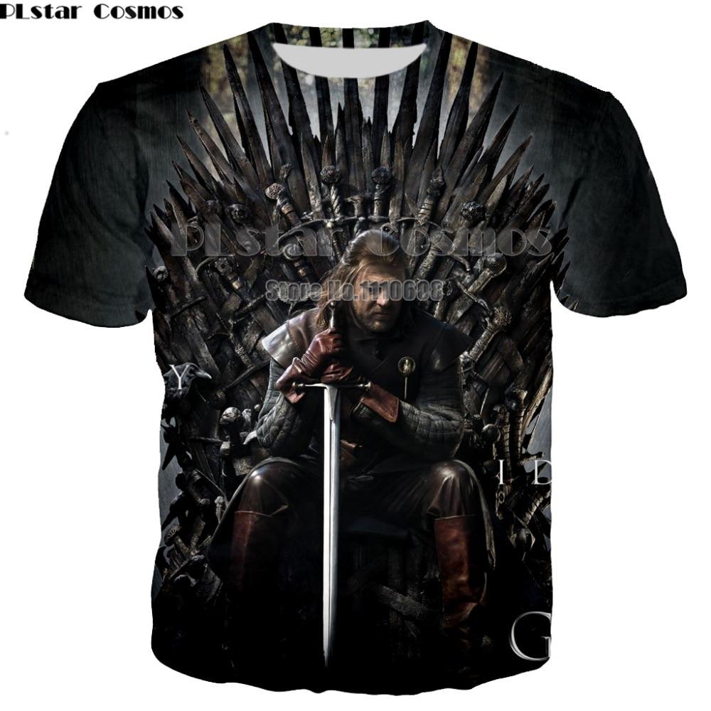 PLstar Cosmos Men 3d Game Of Thrones T Shirt T-shirt Game Of The Thrones Funny
