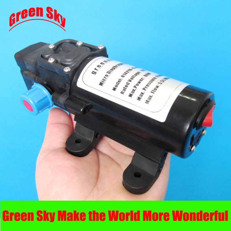 цена на 5.5l/min 80w dc automatic pressure switch type with on/off button and socket 12 volt diaphragm water pump