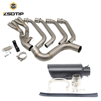 ZSDTRP Motorcycle Exhaust Full System Pipe for Honda CBR650F CBR650 CB650F 2014 2018 with Exhaust Akrapovic Sticker