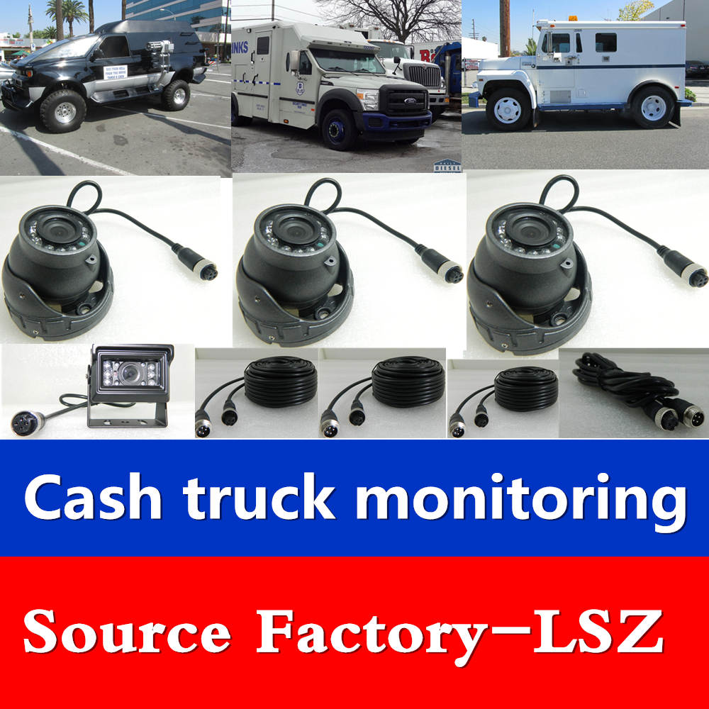 Money truck AHD HD car video recorder 4-channel monitoring host system sd card bus truck цена 2017