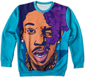 Hip hop style pullovers rap star Wiz Khalifa print 3d sweatshirts mens boy male crewneck hoodies moleton masculino Free shipping