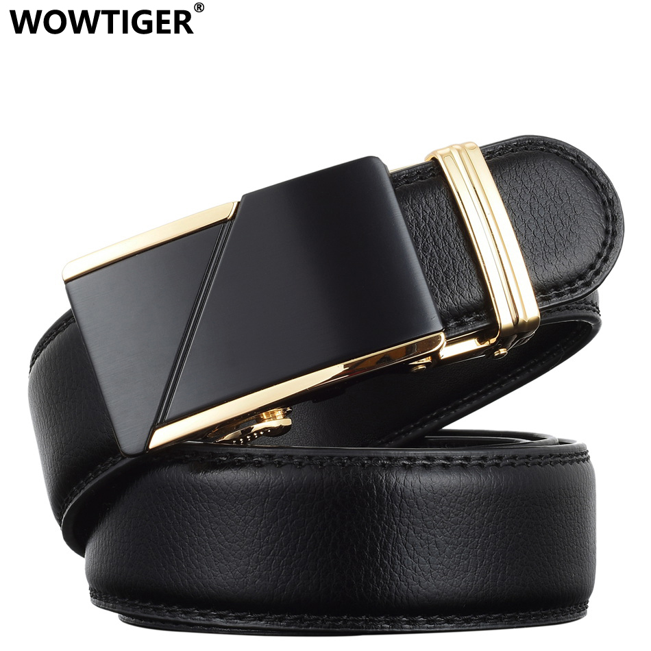 WOWTIGER Designer de Luxo Pulseira de Couro Masculino Cintos de - Acessórios de vestuário