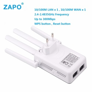 Draadloze 2.4 Ghz Wifi 300Mbps 2 RJ45 Poorten Repeater High Gain Antennes Bridge Signal Versterker Wi Fi Access Point lange Afstand