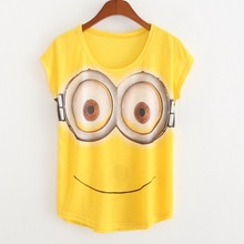 2017 Summer Style Hot Sale Casual T Shirt Women Print Minions Fashion T shirts Short Sleeve