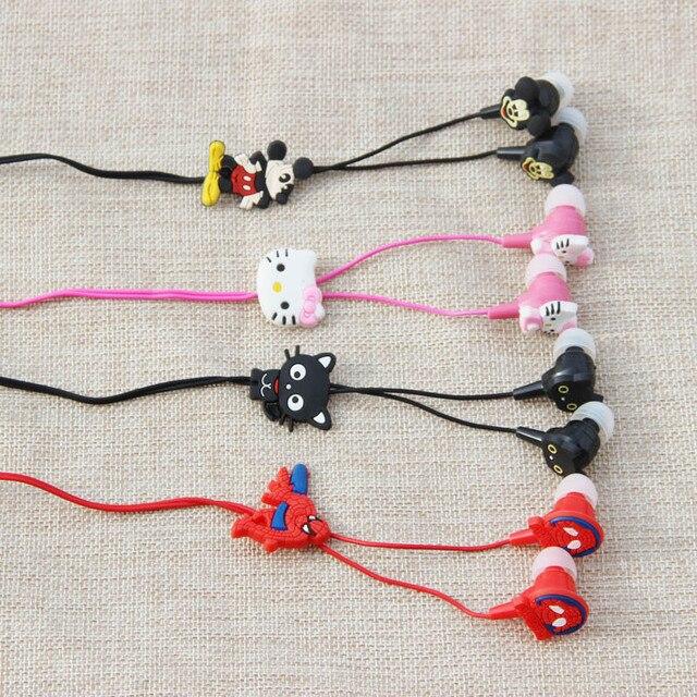 MOONBIFFY 2016 НОВЫЙ мультфильм наушники-вкладыши проводной 3.5 мм наушники Гадкий я Губка Боб квадратные штаны Hello Kitty Миньоны модель