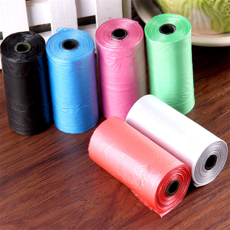 20pcs/roll Colorful Pet Dog Cat Poop Bags Waste Pick Up Clean Bag Refill Universal Eco-Friendly Carriers Bag