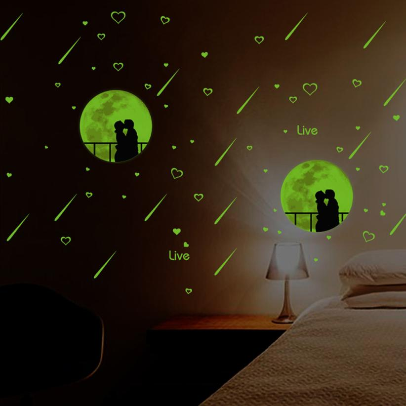 Home Decor Luminous Wall Sticker Home Decor Glow In The Dark Star Decal Baby Kid Room wall sticker Home Deco mirror AU1