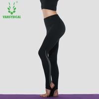 نساء نحيل ضغط الجوارب المرقعة رياضة اليوغا السراويل عالية الخصر القدم اللياقة السراويل تجريب xxl الرياضة breatable