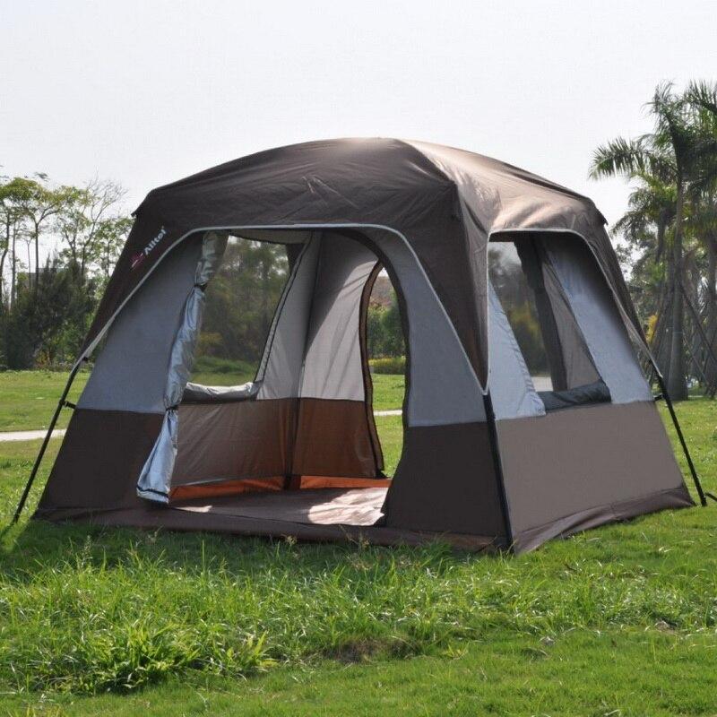 Caffè Singolo strato pergola Outdoor sole-ombreggiatura tenda/4 Angoli giardino pergolato/Multiplayer tenda tempo libero del partito tenda da campeggio/rifugio con anta ribalta