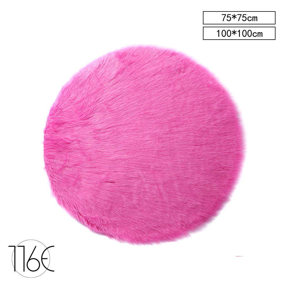 116E Moderne Tapis Pour Salon Chambre Rose SHAGGY Animal EN FAUSSE FOURRURE  SAN RDPK