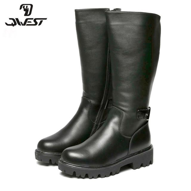 QWEST (Фламинго) 2017 новая коллекция зимние модные высокие сапоги с шерстью высокое качество нескользящая детская обувь для девочек 72WC-CD-0491