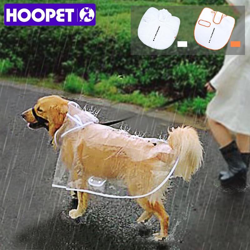 HOOPET Dog Raincoat Big Dog Medium-sized Dogs Pet Waterproof Clothing Jacket Clothes Puppy Casual