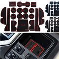 Antiderrapante Para Toyota Prado 2015 Acessórios Palavras LOGOTIPO Do Carro adesivos de Porta Interior Copo Mat Ranhura Portão de Borracha Pad Ranhura carro-Styling