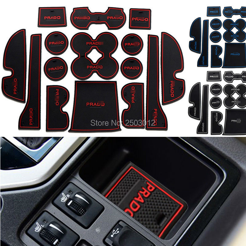 best quality non slip for toyota prado 2015 accessories words logo car stickers interior door. Black Bedroom Furniture Sets. Home Design Ideas