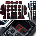 Non Slip For Toyota Prado 2015 Accessories Words LOGO Car Stickers Interior Door Groove Cup Gate Slot Mat Pad Rubber Car-Styling