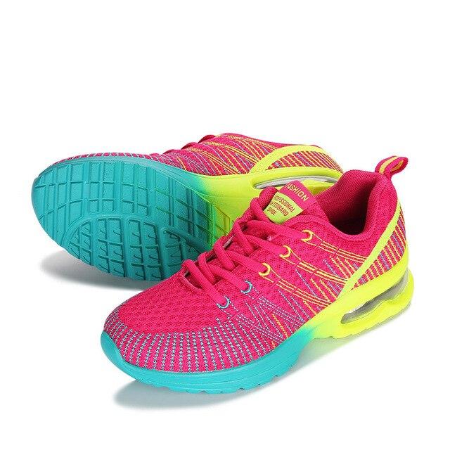 Deporte Cómodo Aire Transpirable Peso Atlético Mujeres De Mujer Zapatillas Zapatos Libre Malla Ligero Al Pareja sQhCtrd