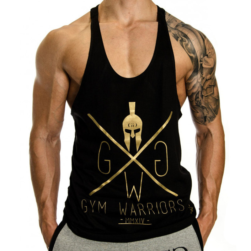 Mens Bodybuilding   Tank     top   Gyms Fitness Workout Cotton Sling Vest Male Golds Casual Fashion Sleeveless Brand Shirt Clothing