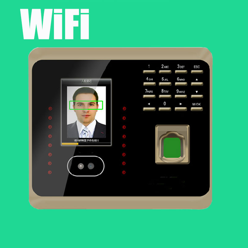 Biometric Facial Fingerprint Employee Time Attendance UF100 Plus Face Recognition System Face Employee Time Clock купить