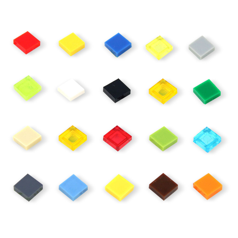 1x1 Flat Tile DIY Enlighten MOC Plastic Building Block Wall Bricks Toys For Kids Compatible With Legoings Assembles Parts 100Pcs free shipping diamond diy enlighten block bricks compatible with lego assembles particles
