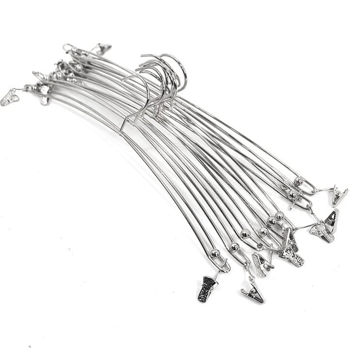 100pcs Creative Metal Double Wire Clip Hanger for Bra Underwear Lingerie Panties Clothes Rack Holder Silver Gold lin4038 line art