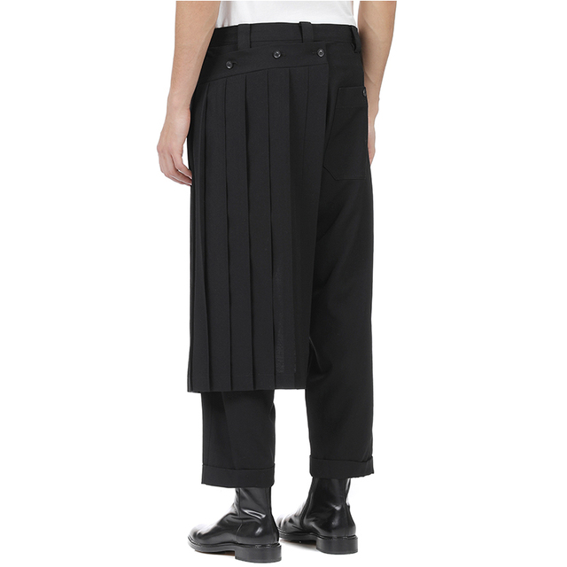 Double men's trouser skirt pants and nine-point tapered bobbin trousers, deconstructed vertical cut yohji spring pants.  S-9XL!! 2