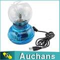 Venda quente USB Magia Negra Base de Vidro Plasma Ball Esfera Relâmpago Lâmpada Partido Luz