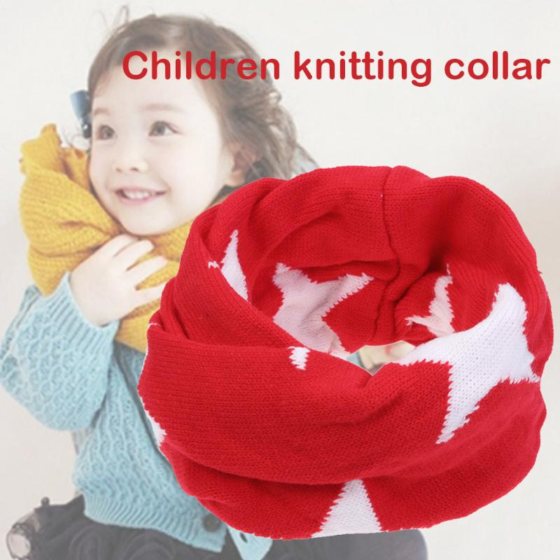 2017 Winter Spring Autumn Cotton Baby Scarf Kintted Wool O-Scarves Chidren Outing Protect Kint Scarves for Children Girls Boys